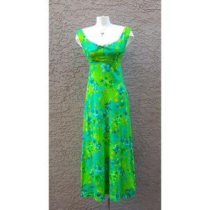 60's Vintage Penny's Hawaiin Maxi Dress